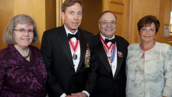 Locurcio, Petraeus Receive Military Award