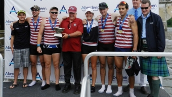 FIT Men's Varsity Four Captures Gold at Aberdeen Dad Vail Regatta