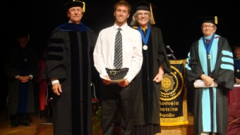 Phi Kappa Phi Inducts New Members; Bocinsky Named Chapter Scholar