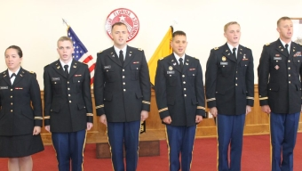Six Commissioned from ROTC