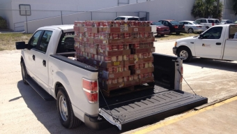 Food Drive Yields 91 Cases of Soup for Daily Bread