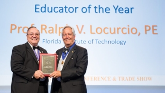 Locurcio Named Educator of Year by Construction Management Association