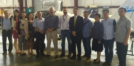 Tour of FIT Aviation, Research Park for Chinese Delegation