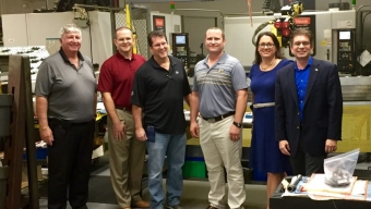 Florida Tech Officials Tour Knight's Armament