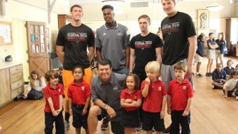 Panthers Basketball Making a Difference Off the Court