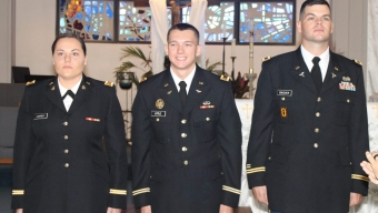 Three ROTC Cadets Commissioned