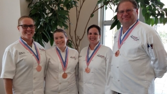 Skoviera, Team Earn Medal at Culinary Competition