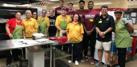 Basketball Team Gets Active in the Community