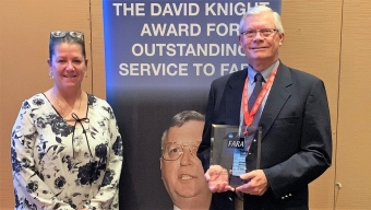 Webbe Receives David Knight Award