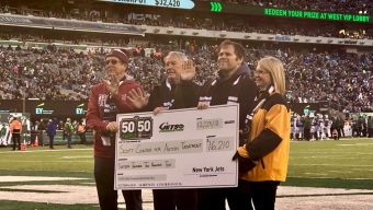 Scott Center Gets Donation from Jets Raffle