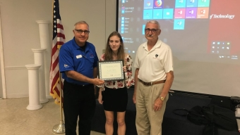 Student Presents at Cocoa Beach Sail and Power Squadron