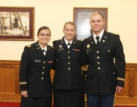 Three Commissioned in ROTC Ceremony